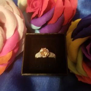 Citrine solitaire ring size 6 sterling silver